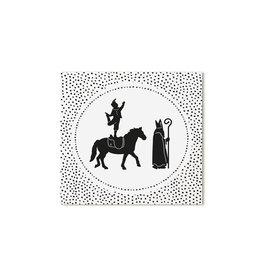 Zoedt Sinterklaas cadeaukaartje Sint en Piet dots patroon