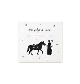 Zoedt Sinterklaas cadeaukaartje Sint en paard Dit pakje is voor ...