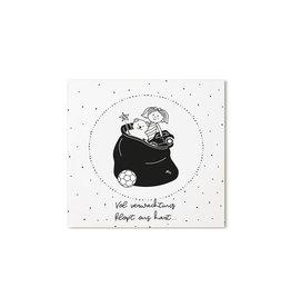 Zoedt Sinterklaas cadeaukaartje Vol verwachting klopt ons hart
