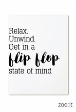 Zoedt Kaart Relax Unwind Get in a flipflop state of mind