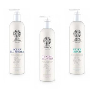Natura Siberica 3x Shower Gel Siberie Blanche Combideal