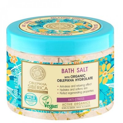 Natura Siberica Oblepikha Anti-stress Bath Salt  with organic hydrolate- 600g