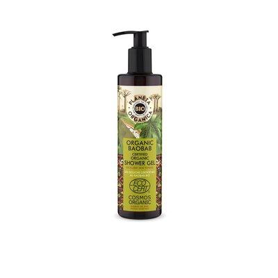 Planeta Organica Bio-Baobab zertifiziertes Bio-Duschgel, für saubere und straffe Haut, 280 ml