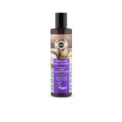 Planeta Organica Natuurlijke haarconditioner Macadamia, voor glans en uitstraling, 280 ml