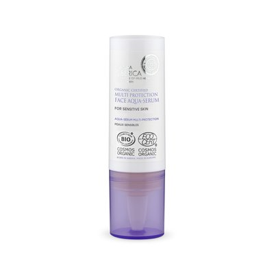 Natura Siberica Multi Schutz Gesicht Aqua-Serum für empfindliche Haut, 15 ml
