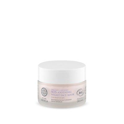 Natura Siberica SOS Beruhigende Nacht-Gesichtsmaske für empfindliche Haut, 50 ml