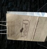 bedrukte draagtas met een gedraaid handvat