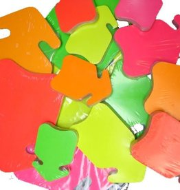 FLUO PIJL 10x15 ROOD 50ST