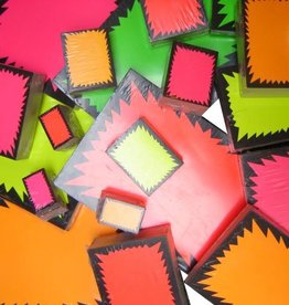 FLUO STER 12X16 PINK 100 ST