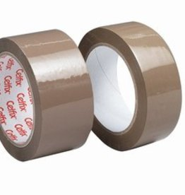 KLEEFBAND 66M ROLLEN PPA/28MY/BROWN - 6ST - 48MM X 66M
