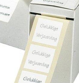 """WENSETIK WIT MET ZILVERDRUK """"VROLIJK PASEN"""" - ROL 500ST"""
