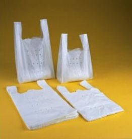 SHOPPERS HDPE WIT - 20+10X40CM / HDPE 21MY / 3000ST