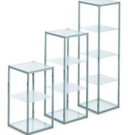 SHOWCASE 3 PLEXI TABL. 34X34X60H