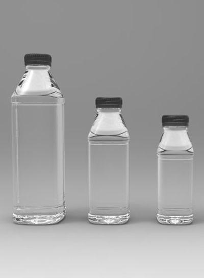 E-proPlast Milchflasche PET | eckig | 1 l | mit Deckel