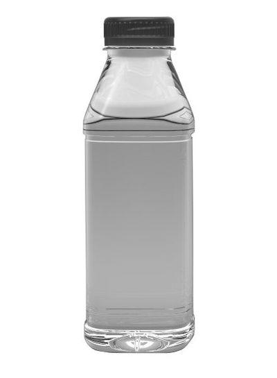 E-proPlast Milchflasche PET | eckig | 0,5 l | mit Deckel