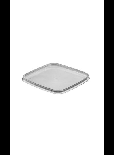 Quadratschale | 550 ml klar | inkl Deckel