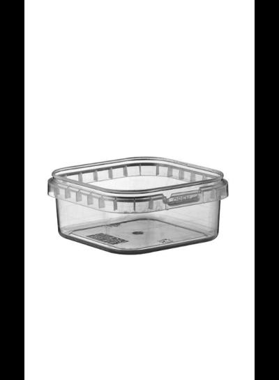 Quadratschale | 125 ml klar | inkl Deckel