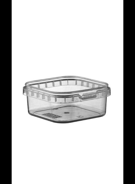 125 ml klar Quadratschale | 100er Pack