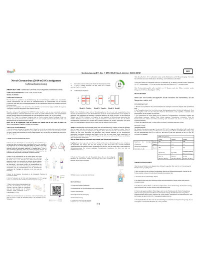 Hotgen Laientest   Coronavirus (2019-nCoV)-Antigentest
