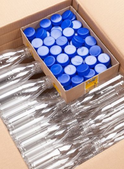E-proPlast Milchflasche r-PET 0,3 | rund |  0,5 l | mit Deckel