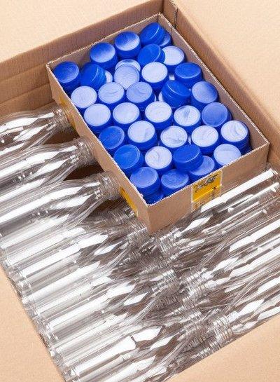 E-proPlast Milchflasche r-PET 0,3 | rund |  1 l | mit Deckel