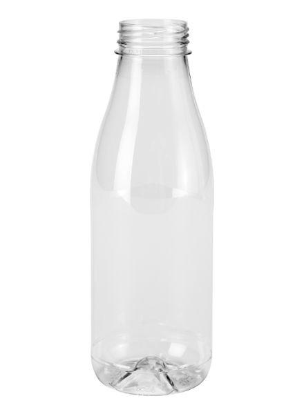 E-proPlast Milchflasche r-PET 0,3 | rund | 1 l