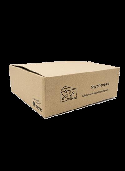 Karton für Käseversand | Say Cheeese | 300 x 300 x 100 mm
