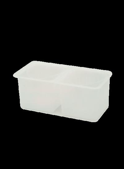 Käseformen 2er Set | Herzfom mit Behälter