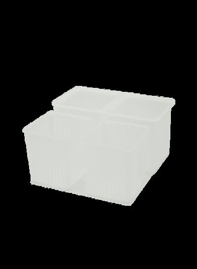 Käseformen 2er Set | quadratische Formen mit Behälter