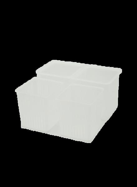 Käseformen 2er Set | eckig mit Behälter