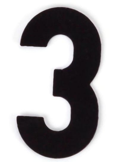 Kaseinzahlen | Nr. 3 | schwarz