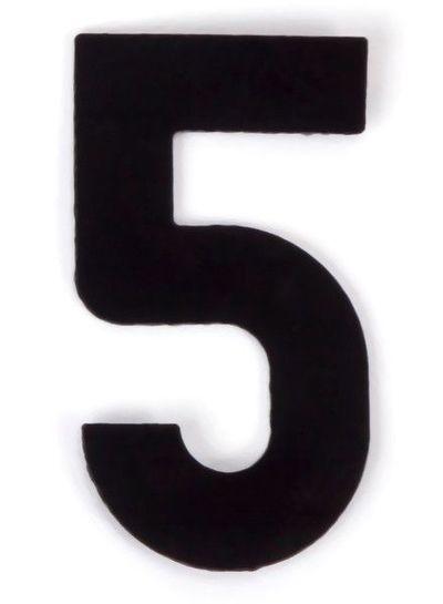 Kaseinzahlen | Nr. 5 | schwarz