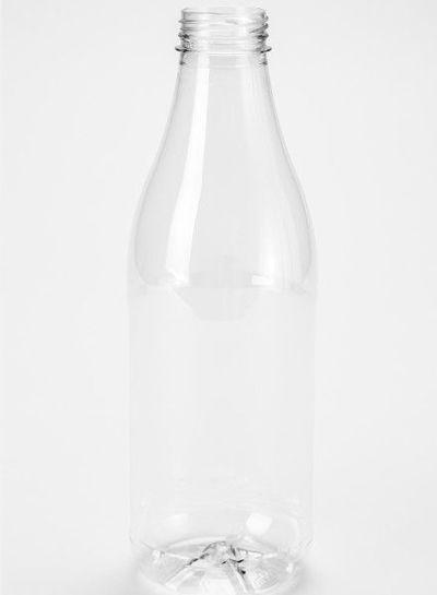 E-proPlast Milchflasche PET | rund | 1 l | mit Deckel