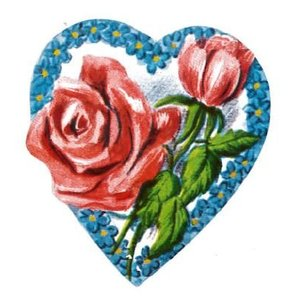 Lebkuchenbild Herz mit Rose
