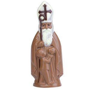 Brunner Schokogiessform Bischof mit Kind