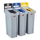Rubbermaid Dreier-Recycling-Station Restmüll / Kunststoff / Papier