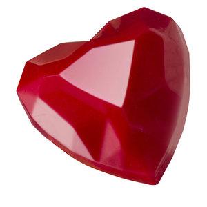 Schokogiessform Diamant-Herz 33 x 33 x 15 mm