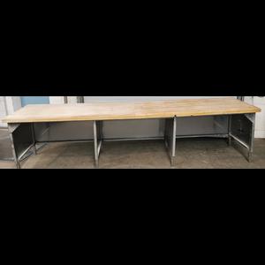 CNS-Arbeitstisch 350x80x87cm