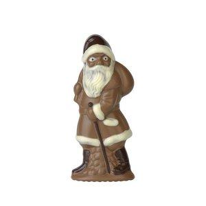 Brunner Schokogiessform Weihnachtsmann schreitend mit Stock