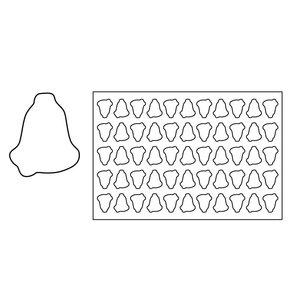 Pavoni Keksausstechmatte Glocke