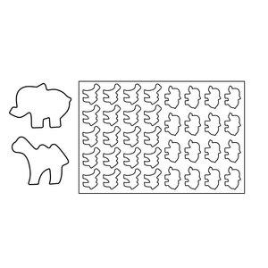 Pavoni Keksausstechmatte Elefant/Kamel