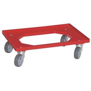 Rolli rot für Körbe 600 x 400mm
