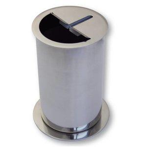 Messer-Abstreifbehälter Edelstahl 180 mm