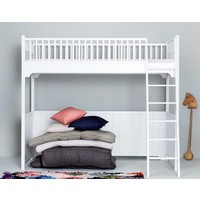 Classic loft bed white 90 x 200