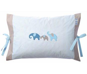 Annette Frank Kissenbezug Elefant blau 40 x 60 cm