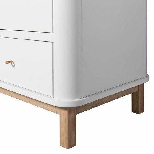 Oliver Furniture wardrobe 2 doors white oak