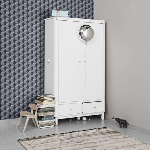 Oliver Furniture wardrobe 2 doors white