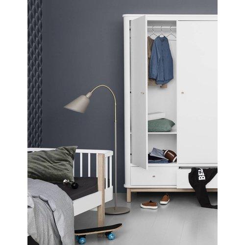 Oliver Furniture wardrobe 3 doors white oak