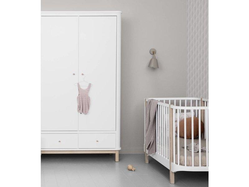 Oliver Furniture Kleiderschrank Wood 3-türig weiss/Eiche