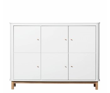 Oliver Furniture Wood Multi-Schrank 3-türig weiss/Eiche